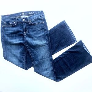 7 for all ManKind Boot Cut Dark Wash Jeans Sz 27